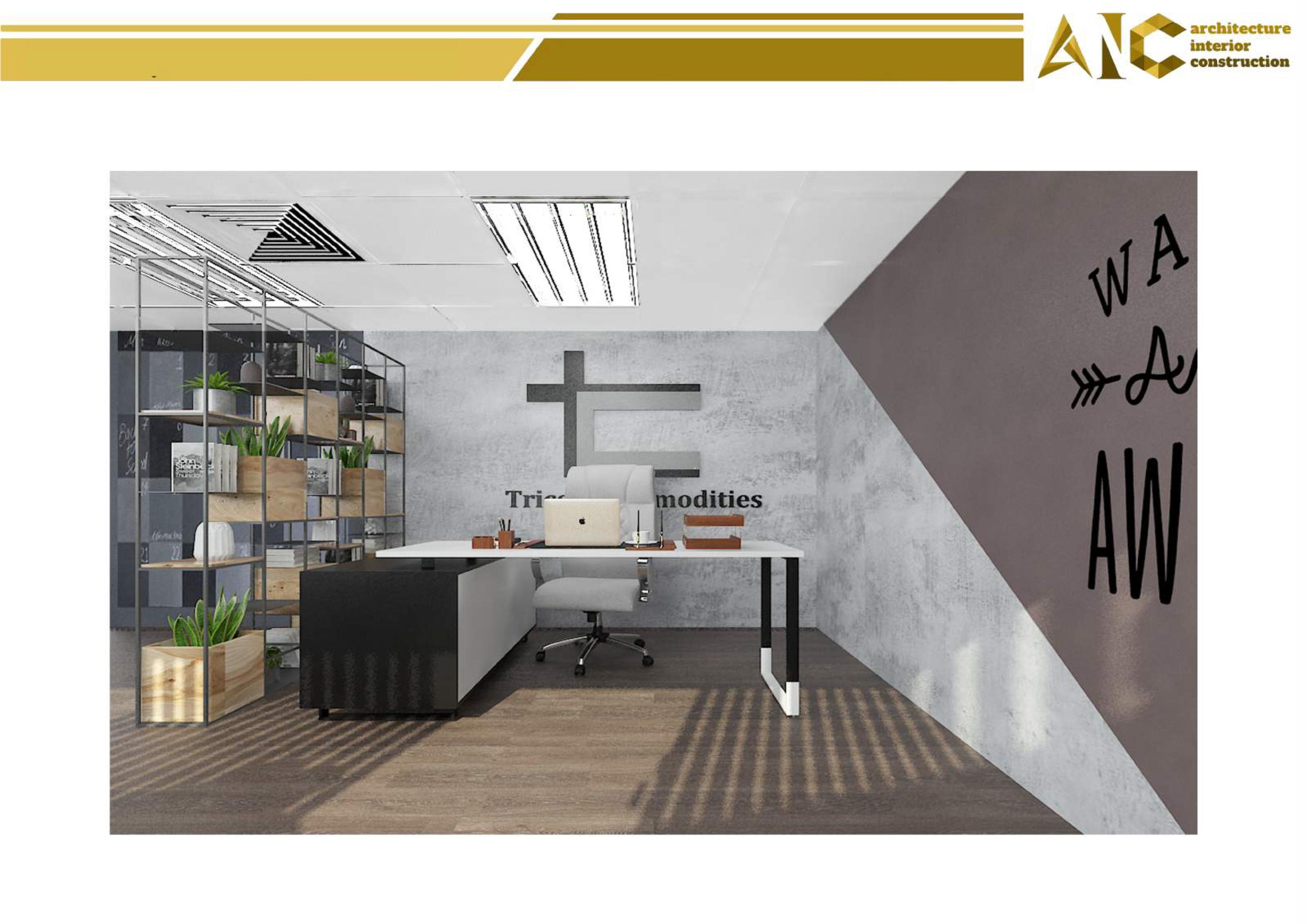 Thiết kế nội thất văn phòng điều- phòng giám đốc view 1