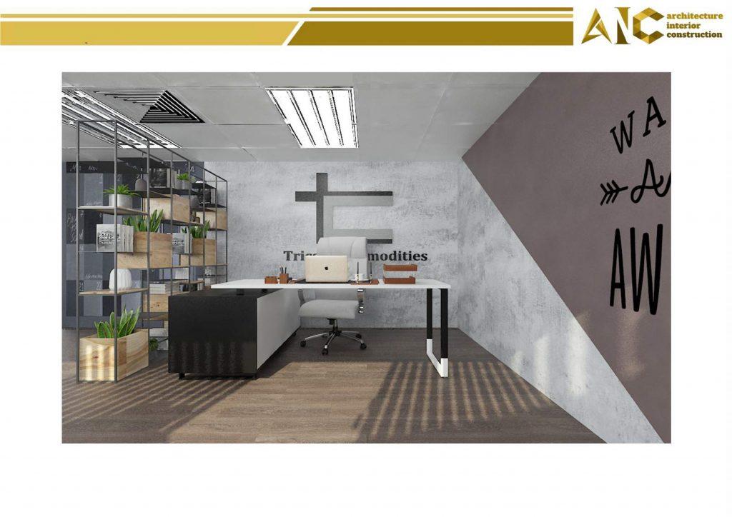Thiết kế nội thất văn phòng điều- phòng giám đốc view 2