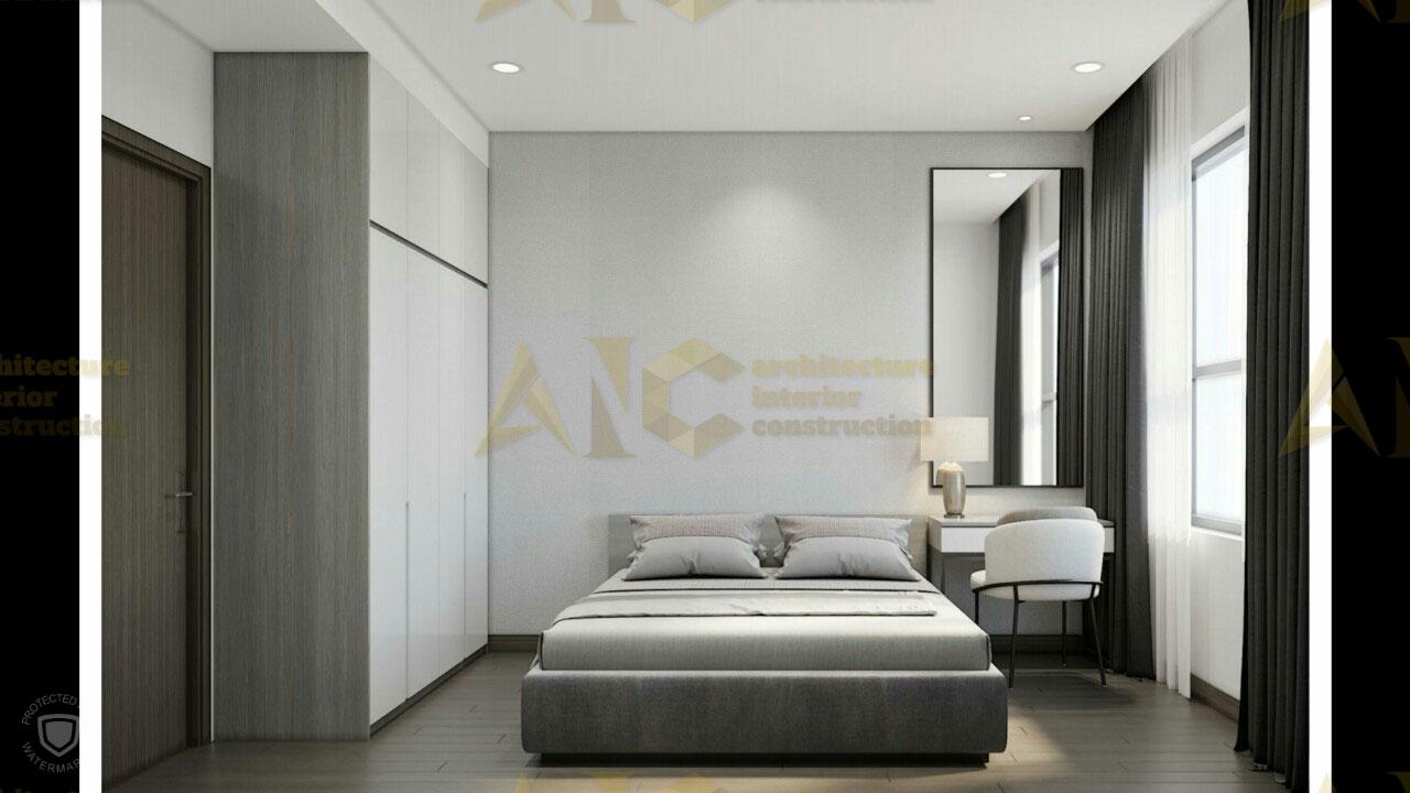 Thiết kế & thi công nội thất căn hộ chú Thắng- phòng ngủ