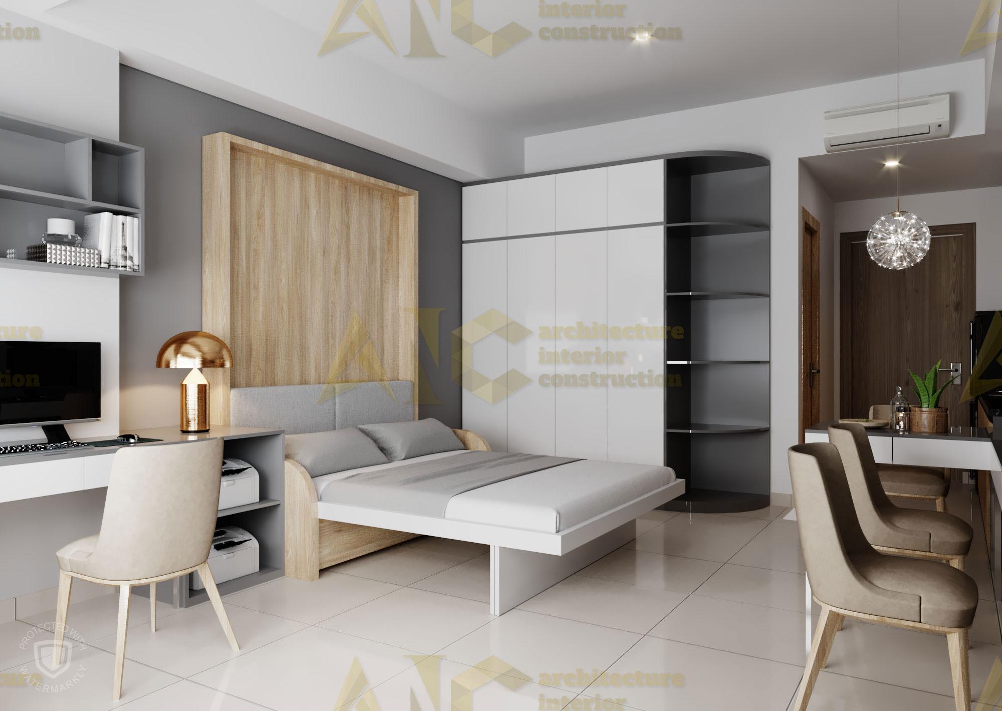 Thiết kế & thi công nội thất căn hộ chú Thắng- view 1