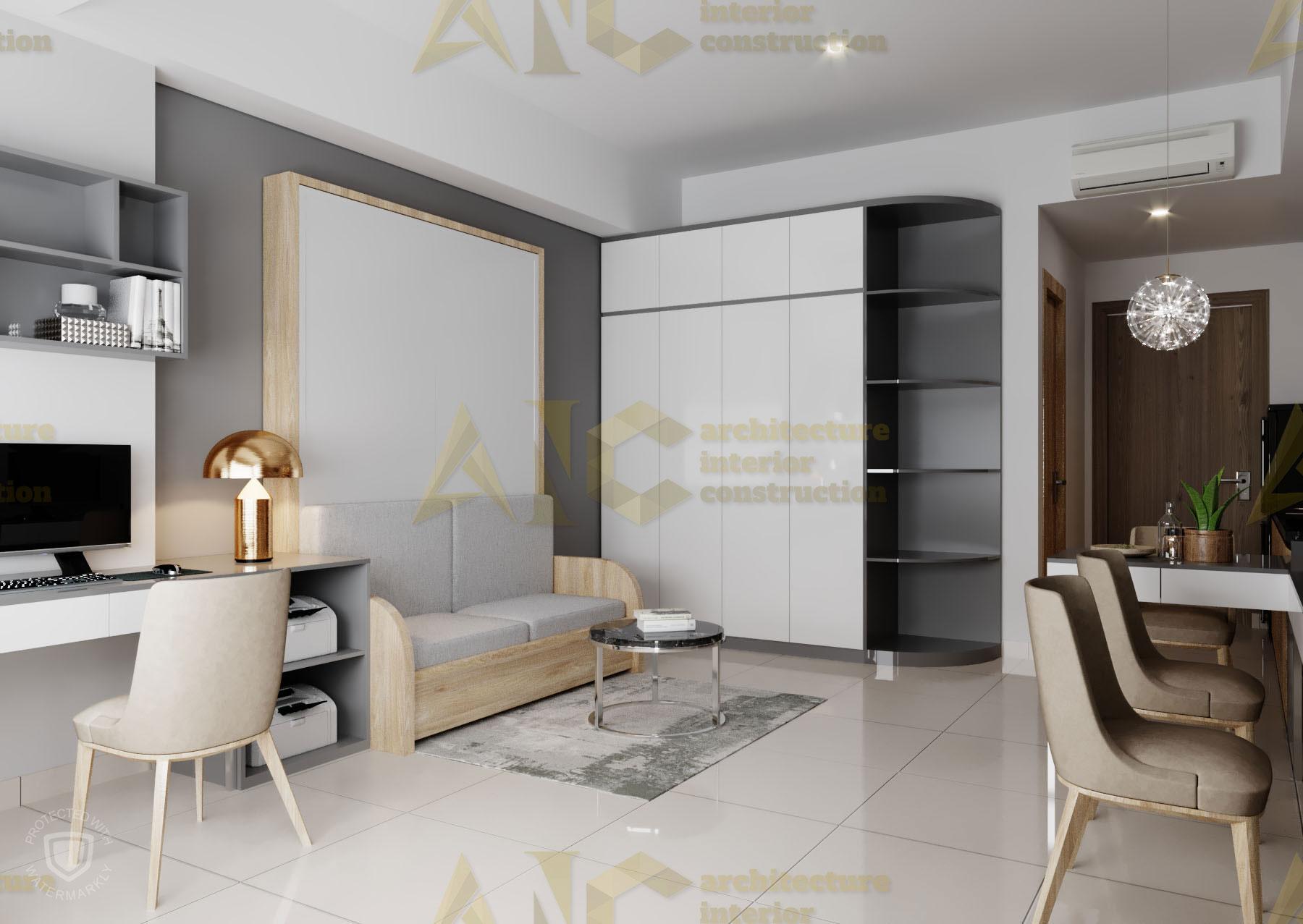 Thiết kế & thi công nội thất căn hộ chú Thắng- view 6
