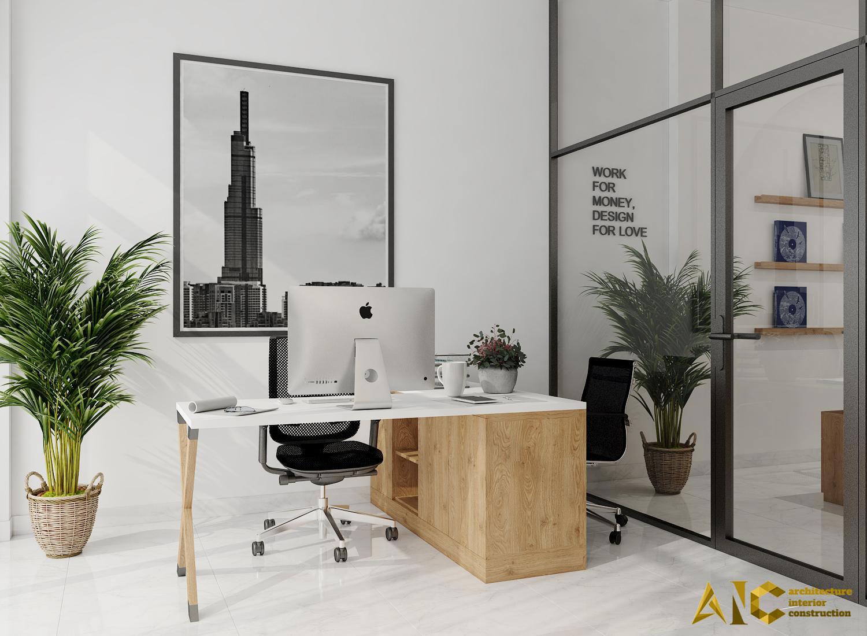 thiết kế và thi công shop yến - phòng giám đốc view 2