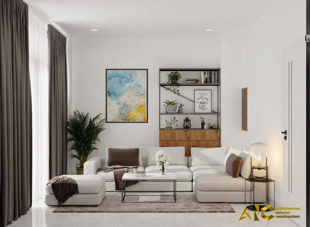 thiết kế và thi công shop yến - phòng khách