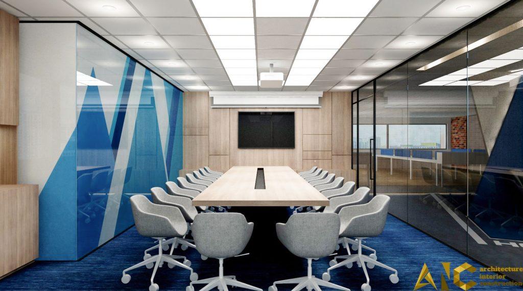thiết kế nội thất văn phòng Realtek- phòng họp
