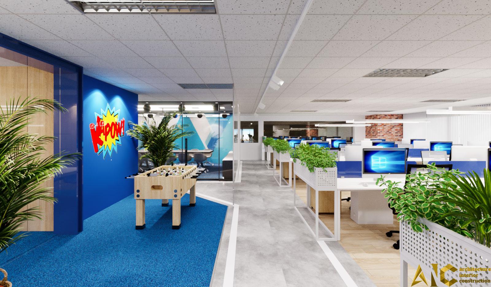 thiết kế nội thất văn phòng Realtek- phòng làm việc view 1.1