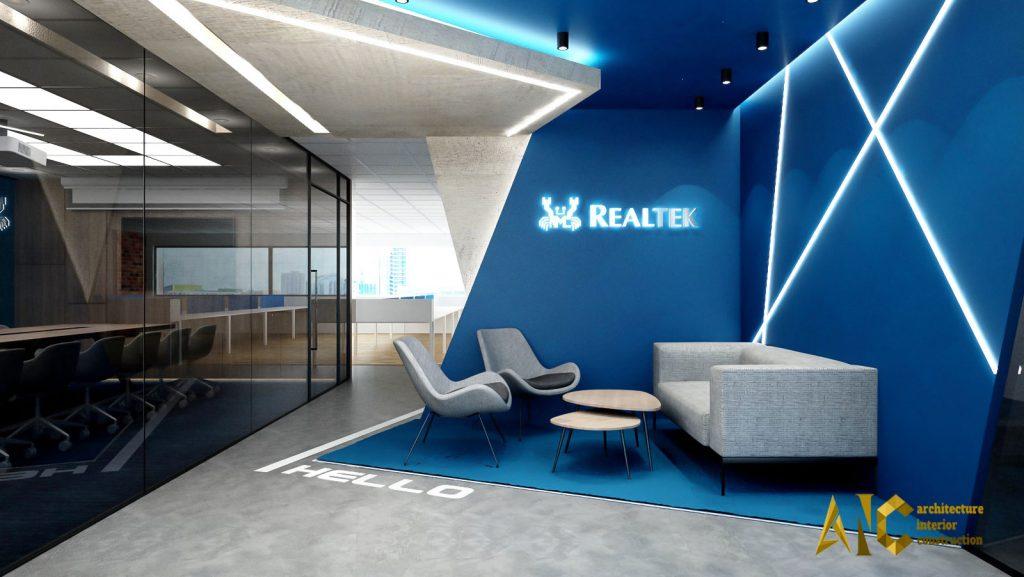 thiết kế nội thất văn phòng Realtek- phòng tiếp khách view 2