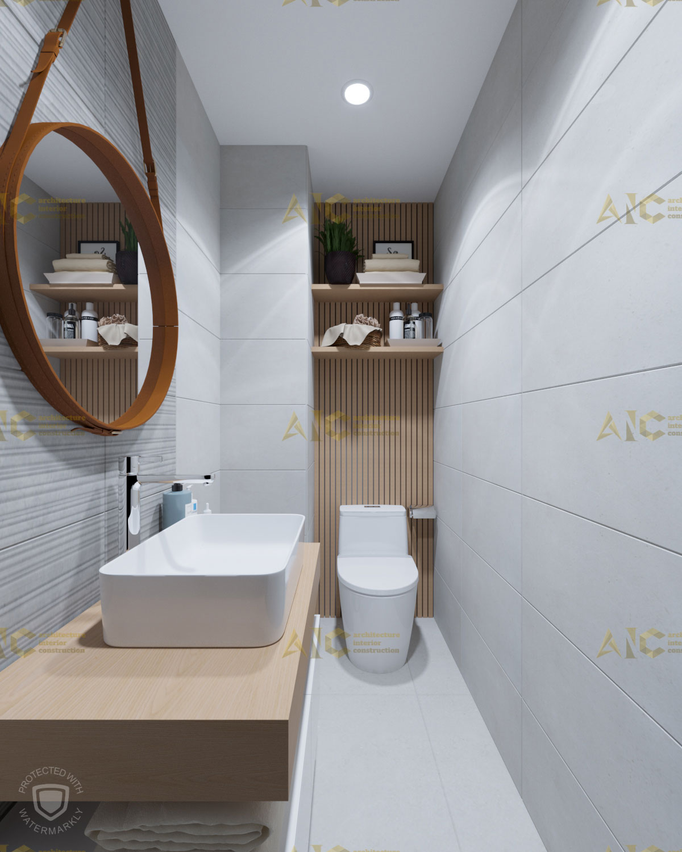 Thiết kế thi công shop yến - phòng vệ sinh tầng lửng view 1