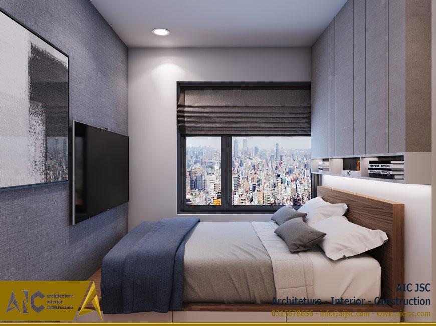 thiết kế và thi công nội thất nhà chị Uyên - quận 7 - giường ngủ