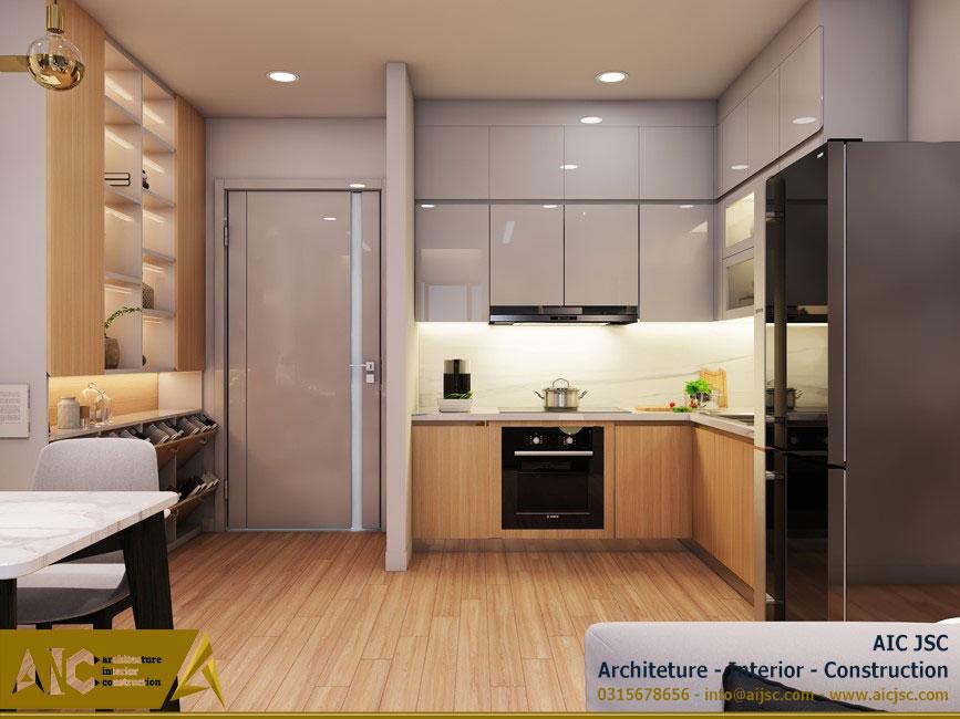 thiết kế và thi công nội thất nhà chị Uyên - quận 7 - phòng bếp