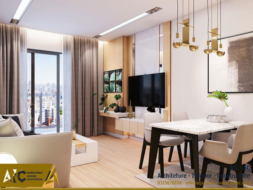 thiết kế và thi công nội thất nhà chị Uyên - quận 7 - nhà bếp view 2