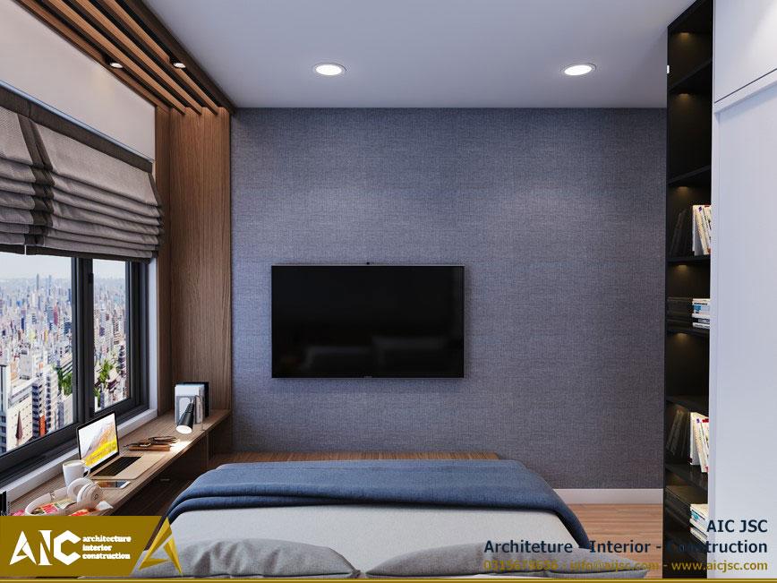 thiết kế và thi công nội thất nhà chị Uyên - quận 7 - view phòng ngủ