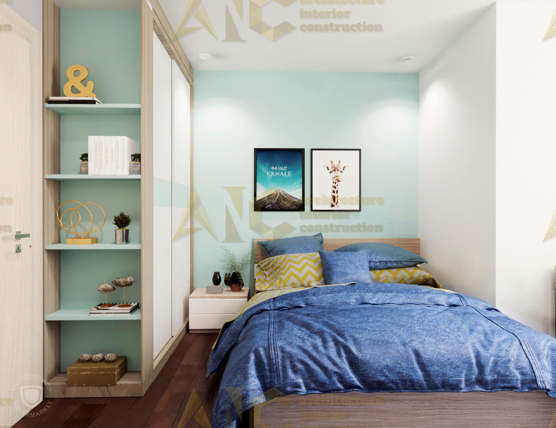 Thiết kế và thi công nội thất căn hộ chị Trúc- phòng ngủ nhỏ view 1