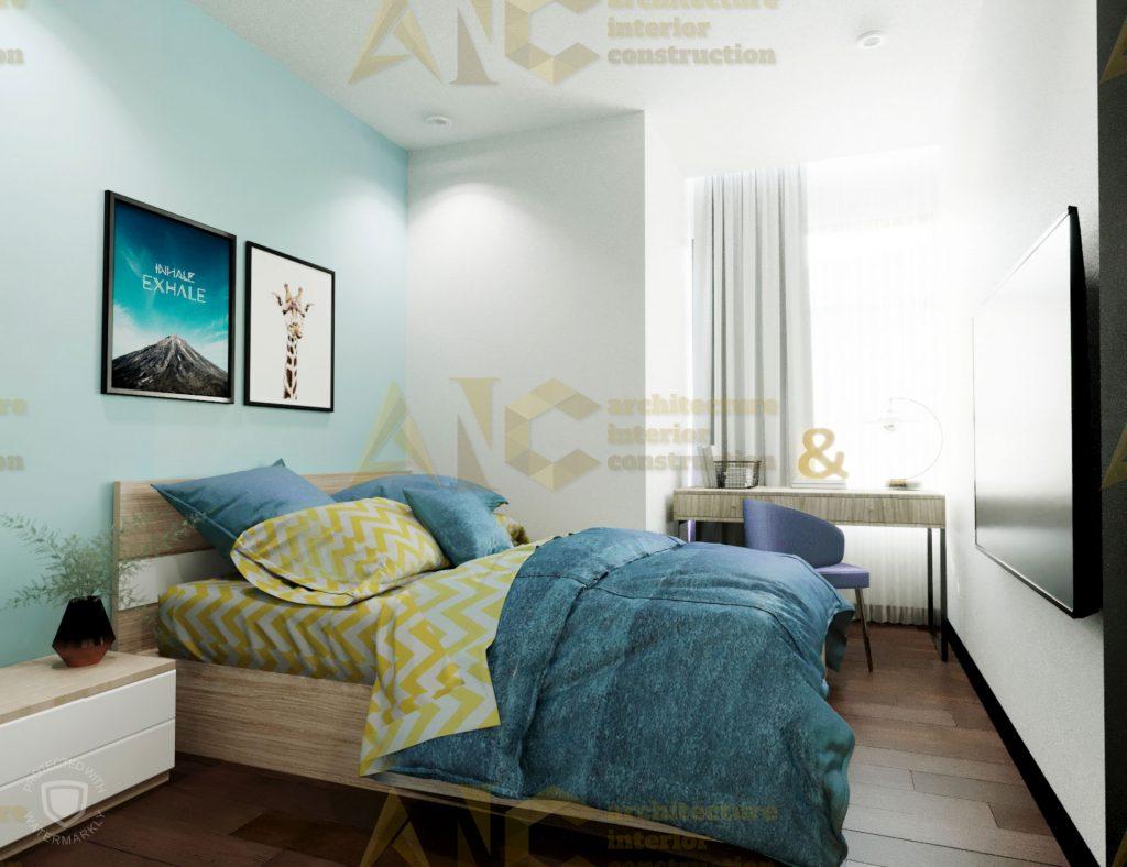 Thiết kế và thi công nội thất căn hộ chị Trúc- phòng ngủ nhỏ view 2