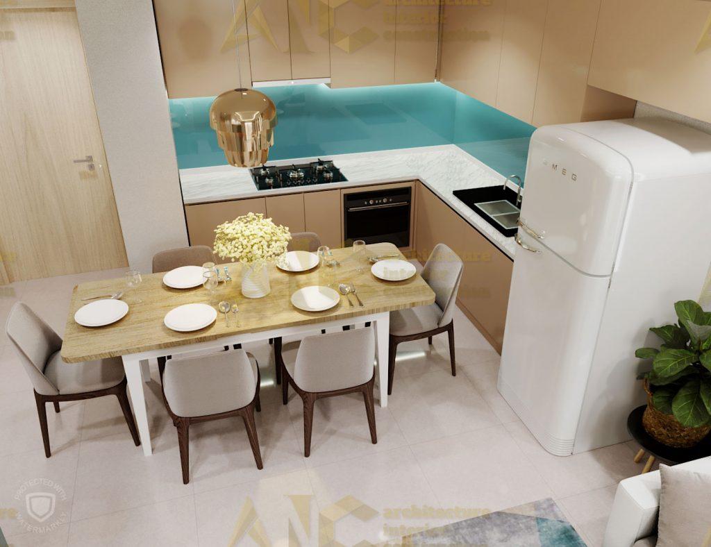Thiết kế và thi công nội thất căn hộ chị Trúc- view 2