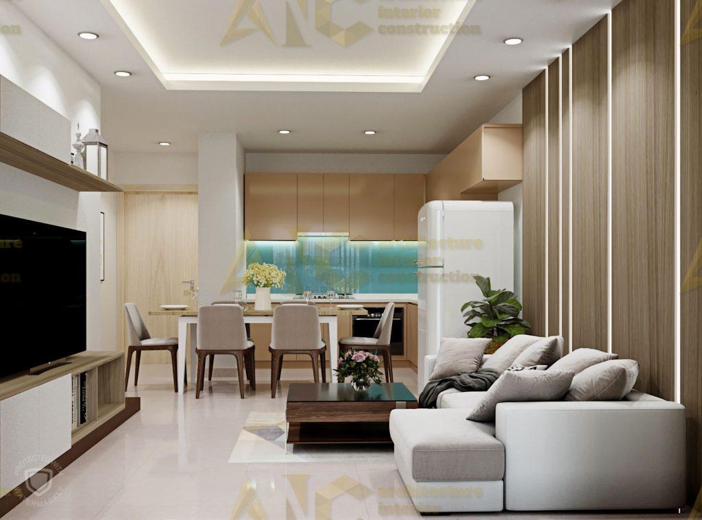Thiết kế và thi công nội thất căn hộ chị Trúc- view 5