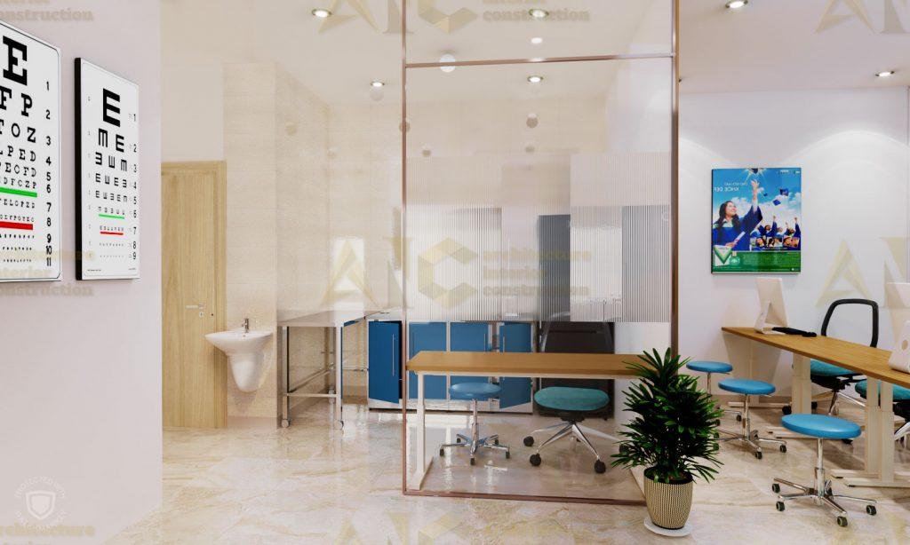 Thiết kế văn phòng tổ chức IOM- khu lấy máu view 2