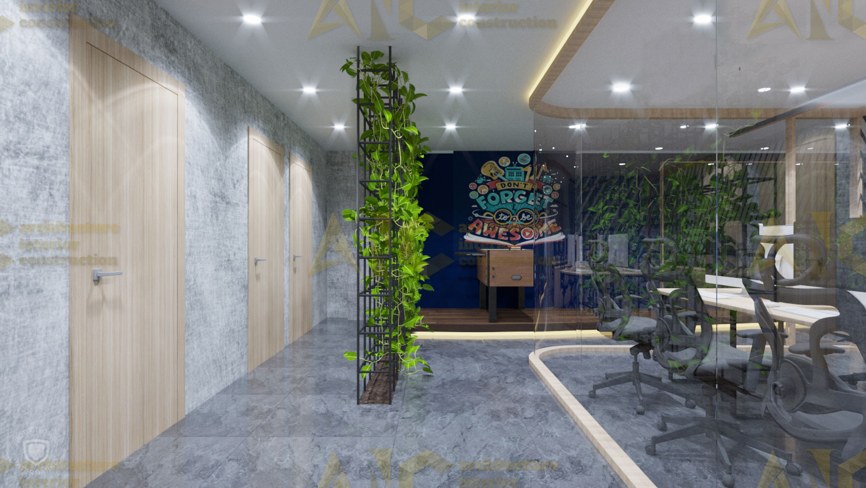 Thiết kế văn phòng tổ chức IOM- phòng làm việc view 3