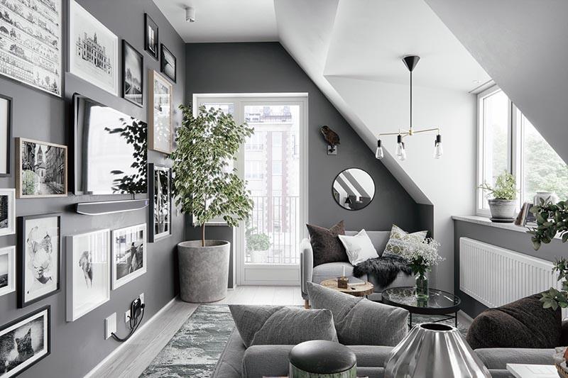 trang trí nội thất phòng khách cuối năm