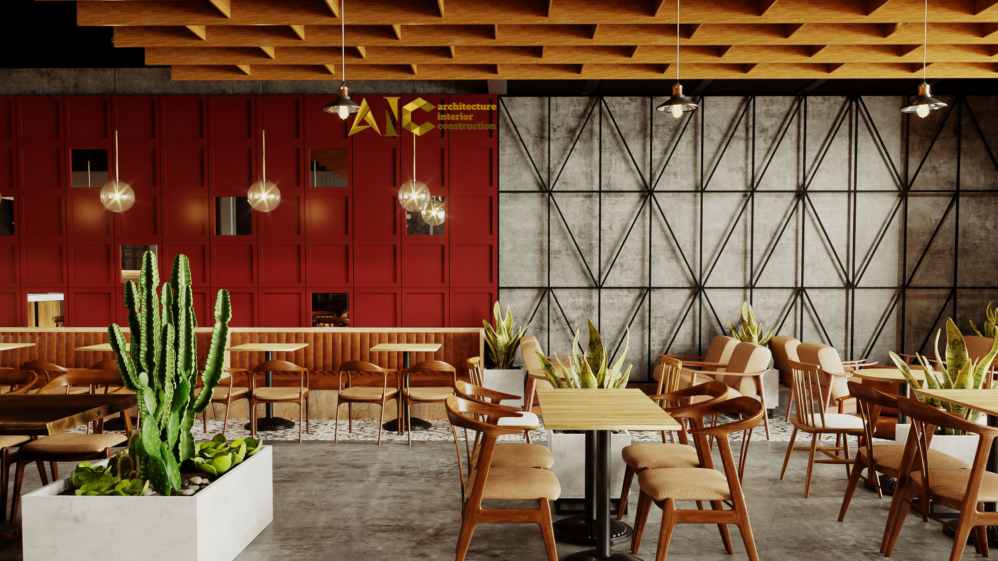thiết kế và thi công khu cafe văn phòng Tantofaz- khu cafe văn phòng view 3