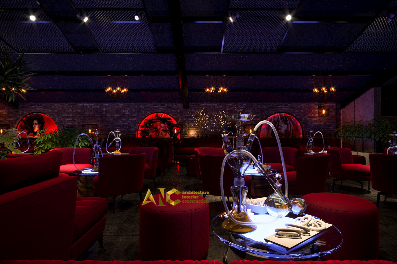 thiết kế và thi công khu cafe văn phòng Tantofaz- khu Shisha lầu 1 view 4
