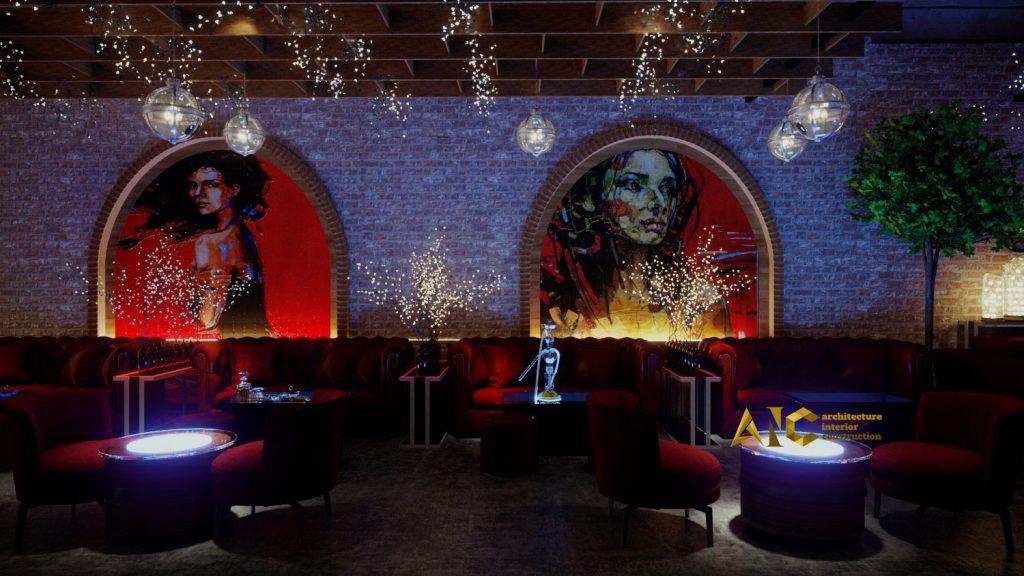 thiết kế và thi công khu cafe văn phòng Tantofaz- khu Shisha view 2