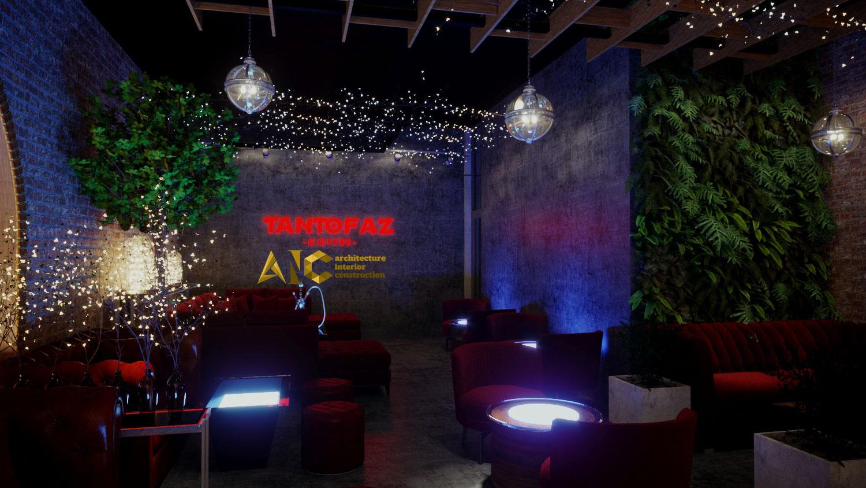 thiết kế và thi công khu cafe văn phòng Tantofaz- khu Shisha view 4