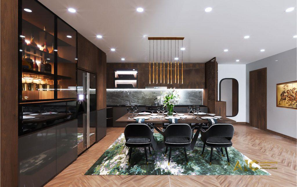 thiết kế thi công nội thất căn hộ chị Phượng Hà Đô Centrosa - bếp 2