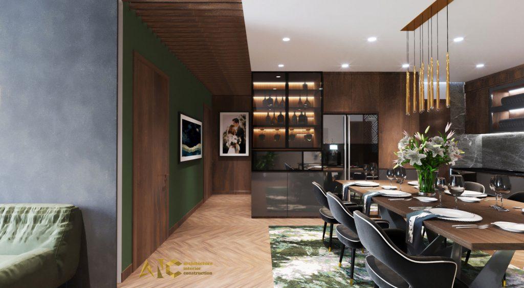thiết kế thi công nội thất căn hộ chị Phượng Hà Đô Centrosa - hành lang