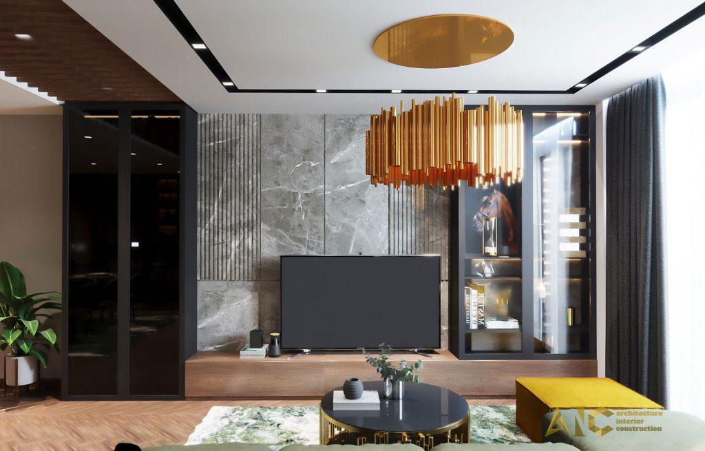 thiết kế thi công nội thất căn hộ chị Phượng Hà Đô Centrosa - khách view 1