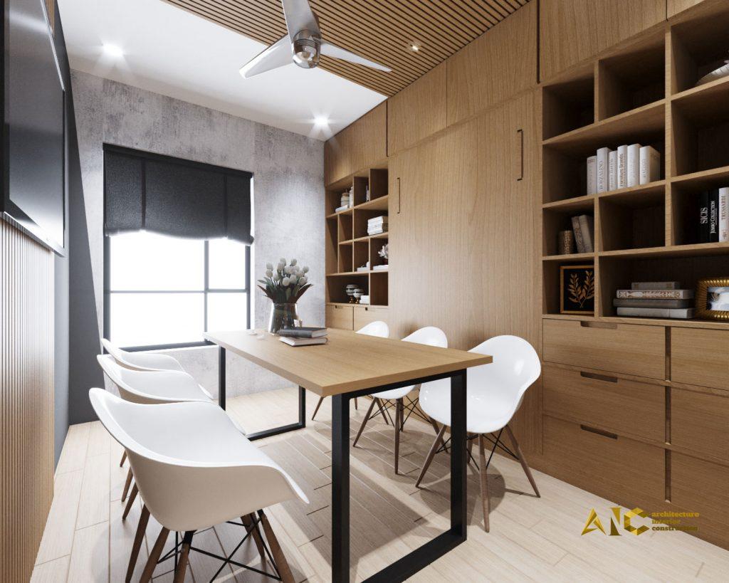 thiết kế và thi công nội thất officetel Centana - view 5