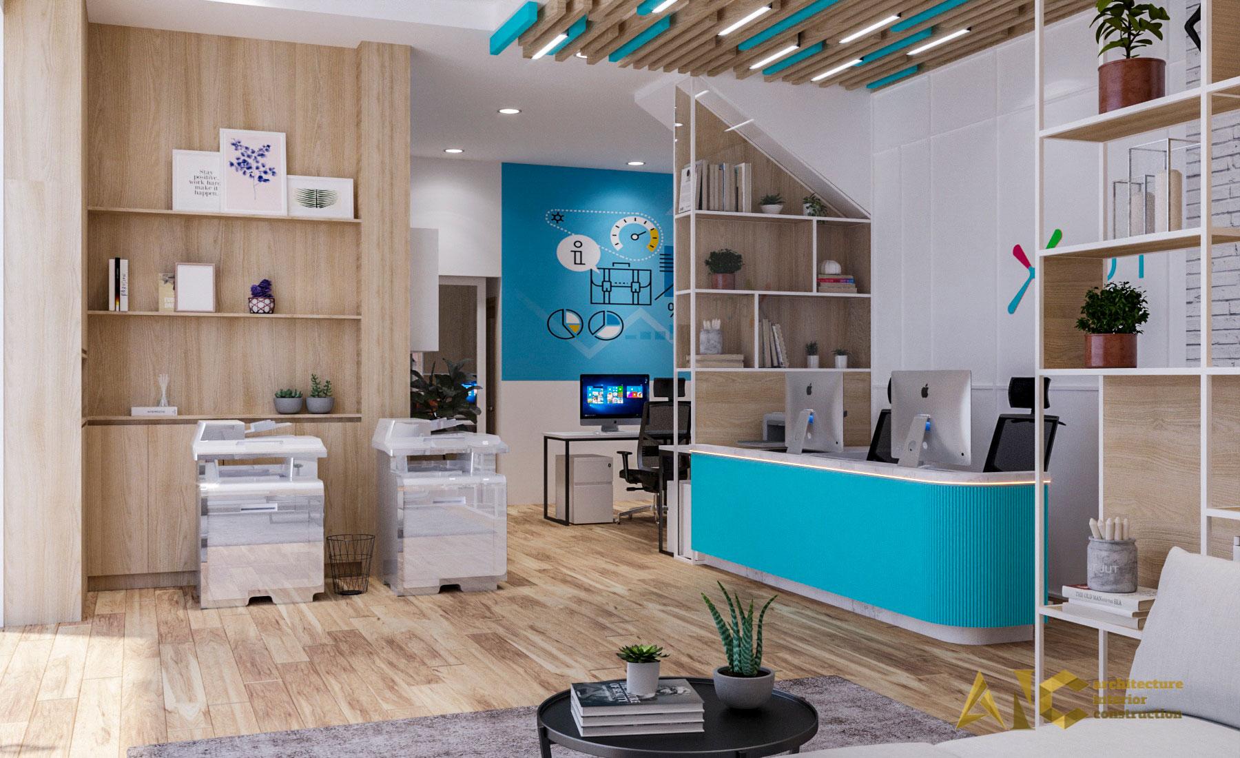thiết kế thi công nội thất văn phòng Xbot - view 2