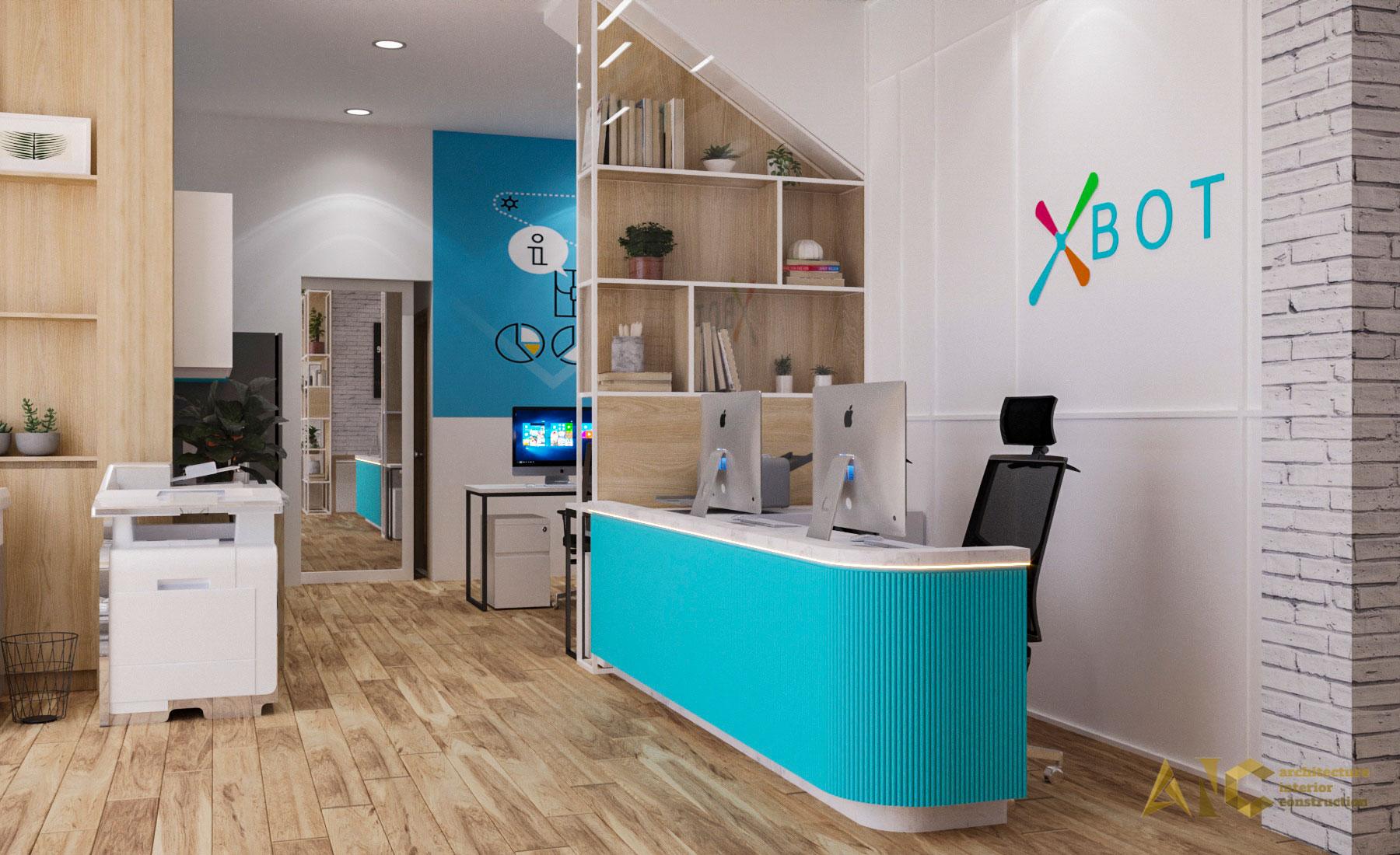thiết kế thi công nội thất văn phòng Xbot - view 4