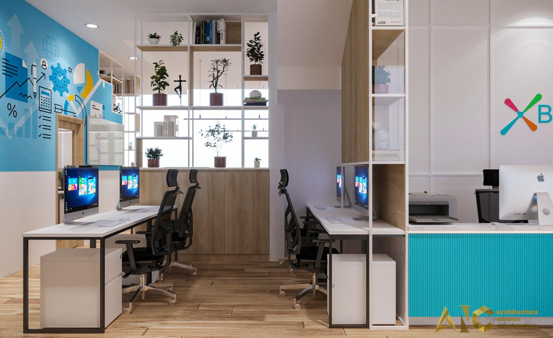 thiết kế thi công nội thất văn phòng Xbot - view 6