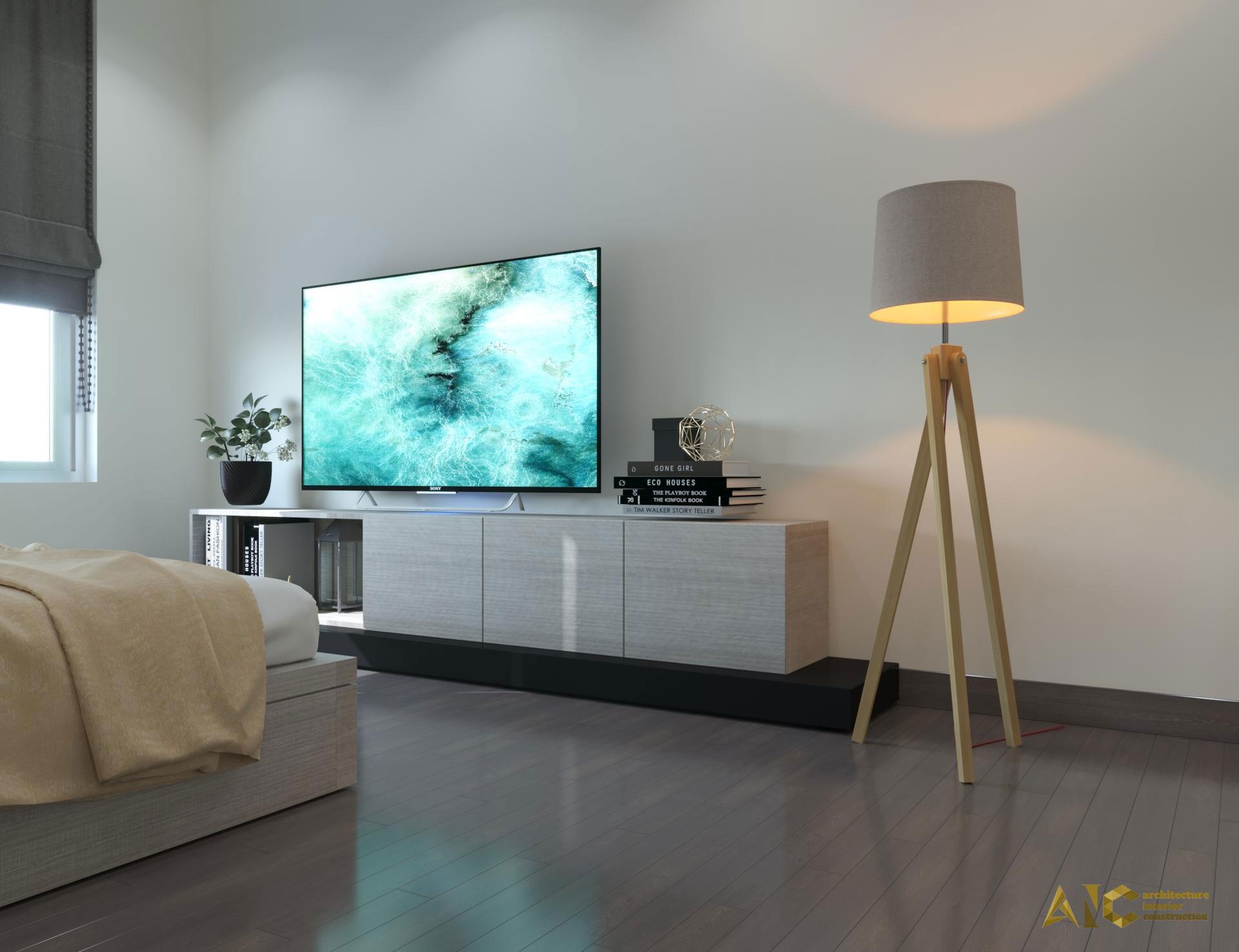 thiết kế và thi công nội thất căn hộ chú Chương - Golden Mansion view 10