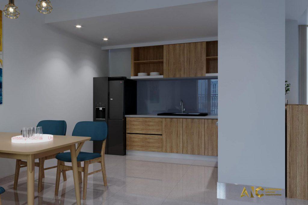 thiết kế và thi công nội thất căn hộ chú Chương - Golden Mansion view 11