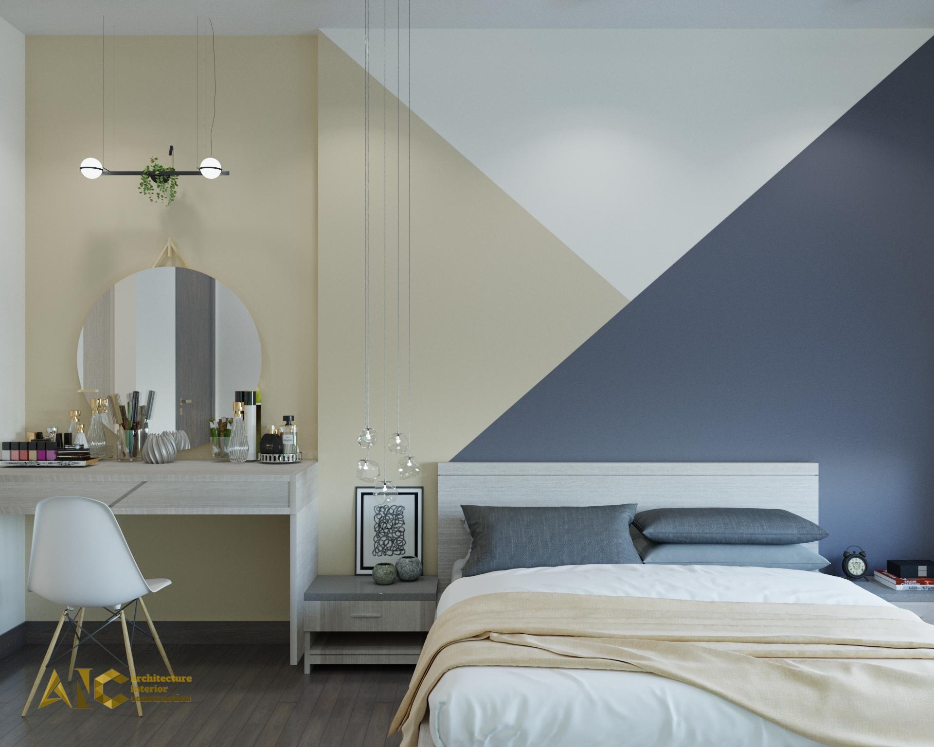 thiết kế và thi công nội thất căn hộ chú Chương - Golden Mansion view 2
