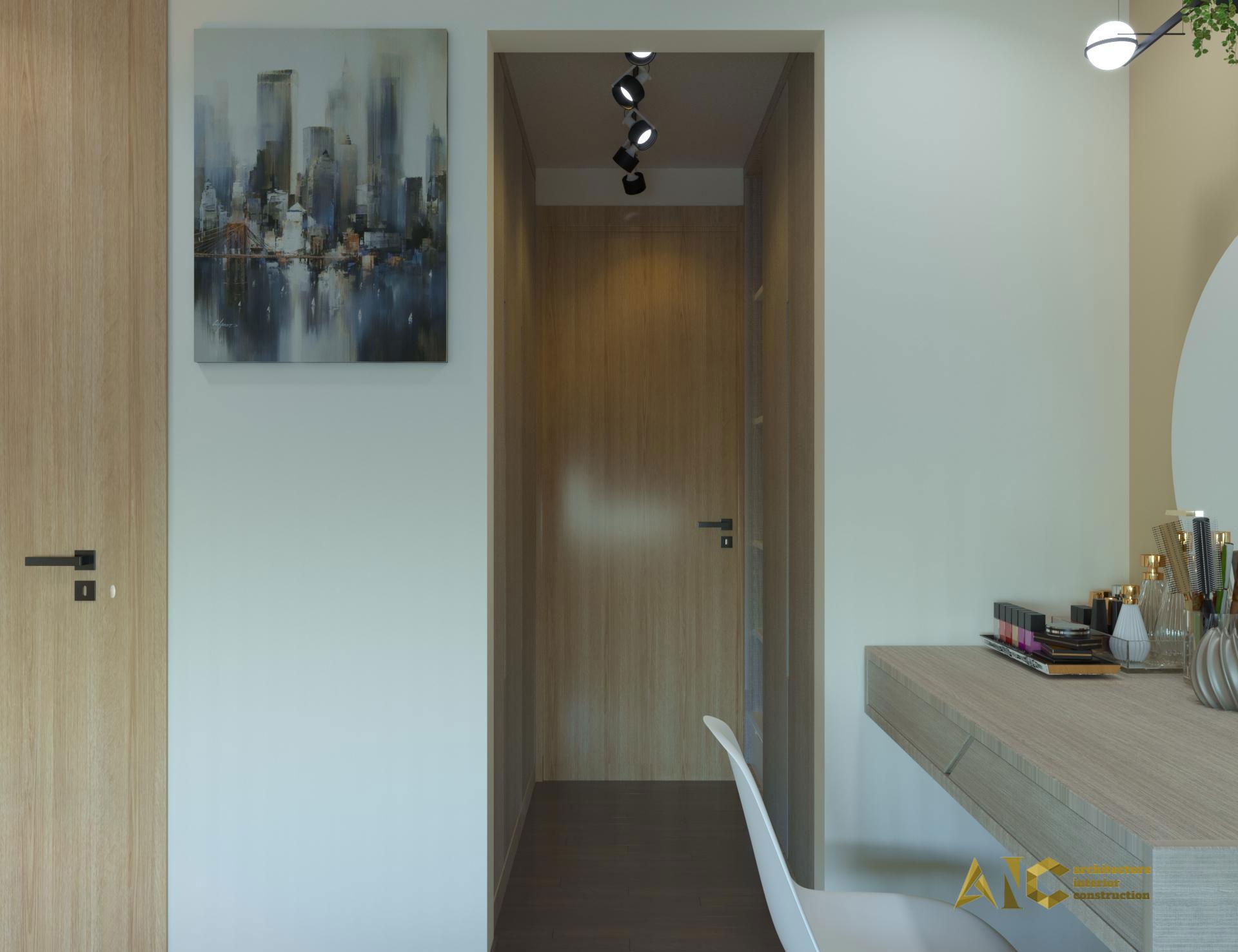 thiết kế và thi công nội thất căn hộ chú Chương - Golden Mansion view 6