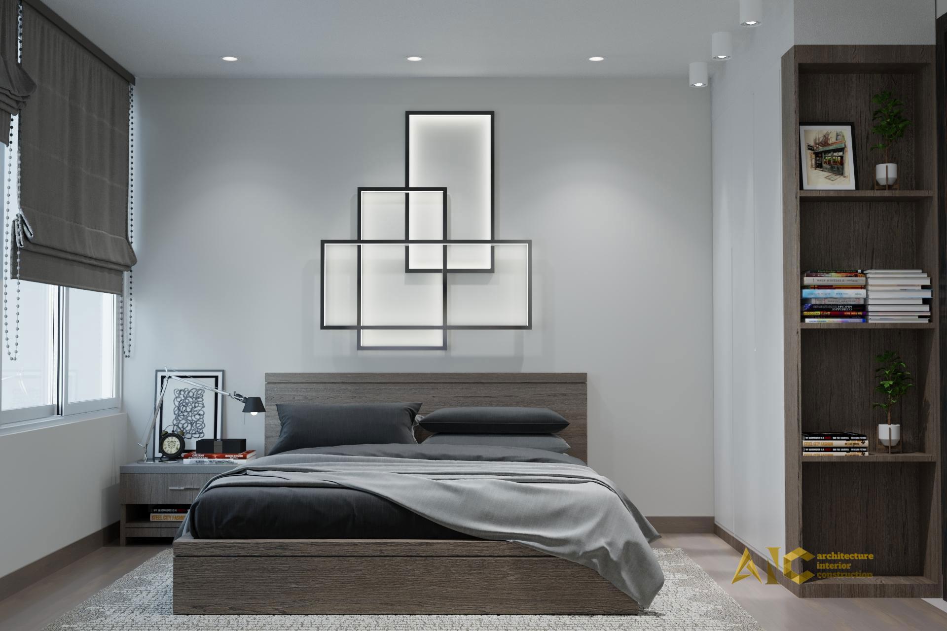 thiết kế và thi công nội thất căn hộ chú Chương - Golden Mansion view 7