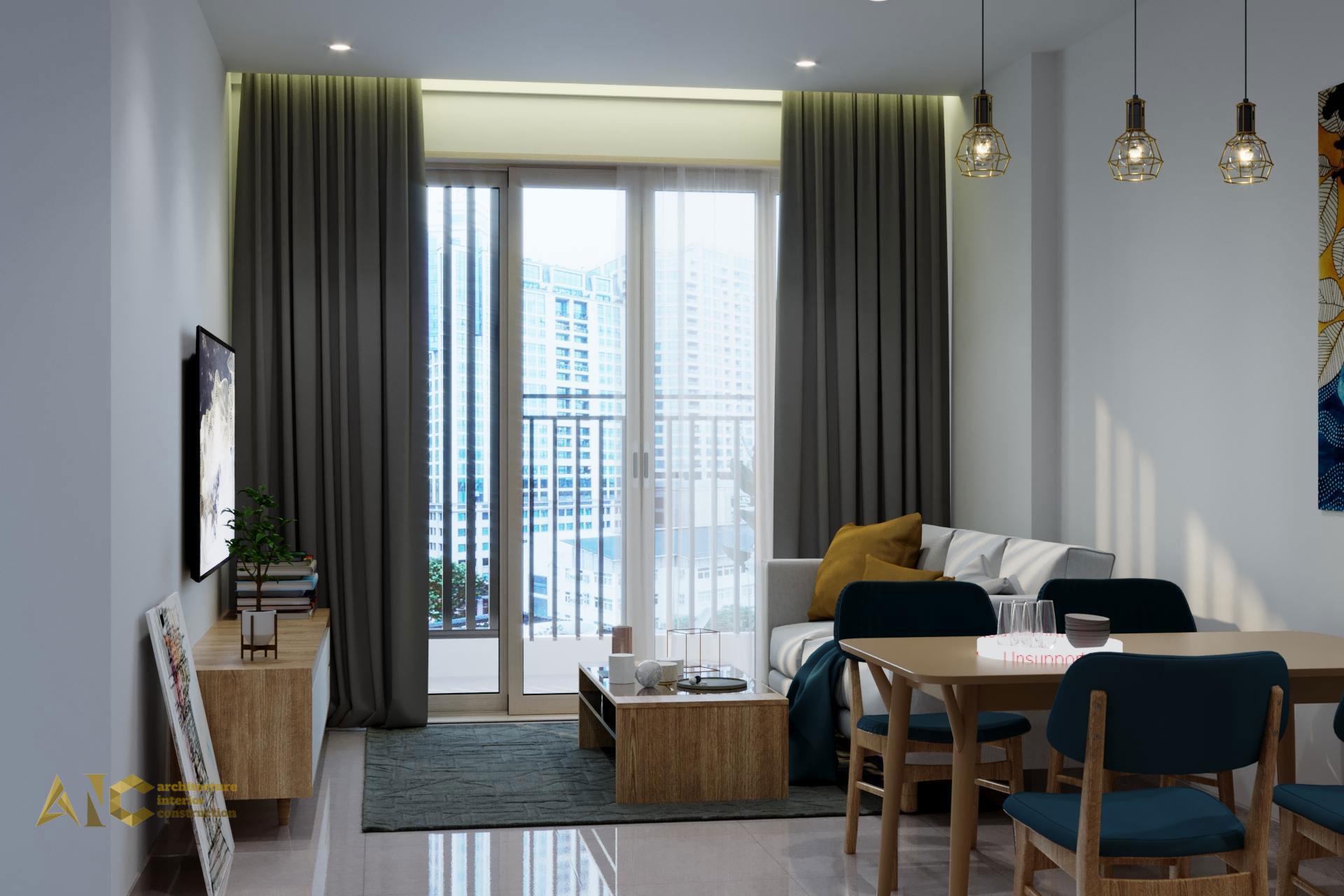 thiết kế và thi công nội thất căn hộ chú Chương - Golden Mansion view 8