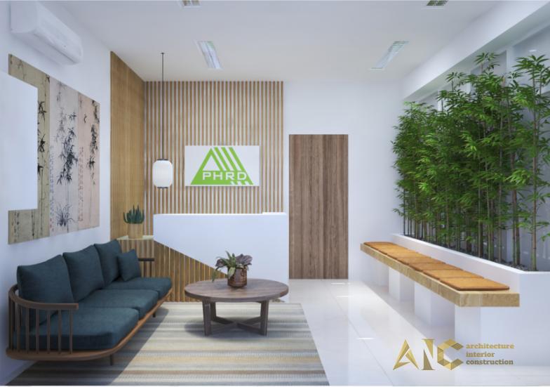 thiết kế thi công nội thất văn phòng Proshipser- phòng khách
