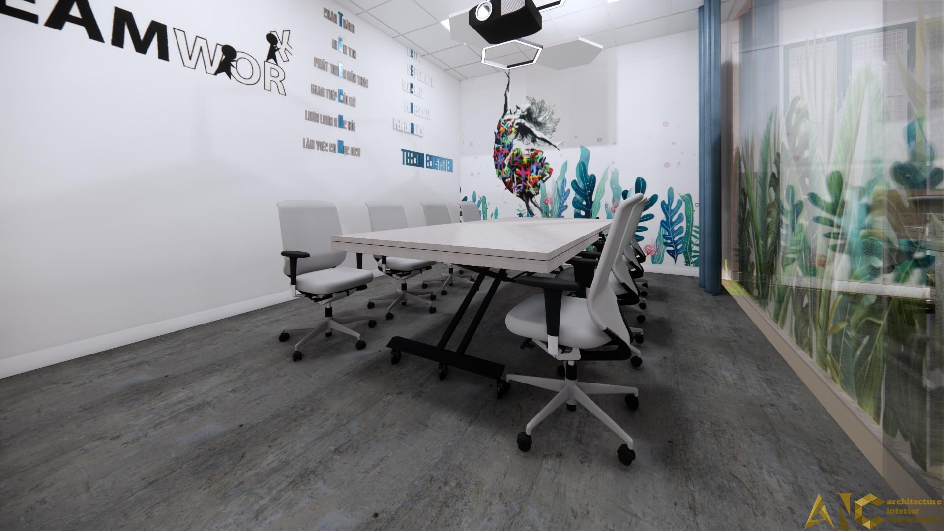 mặt bằng văn phòng Teecom - phòng họp