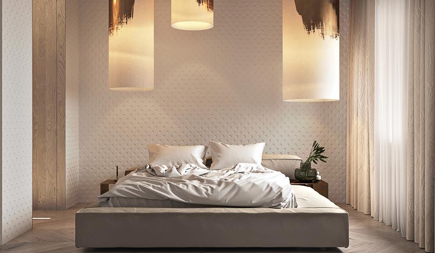 phòng ngủ với nội thất kim loại 2