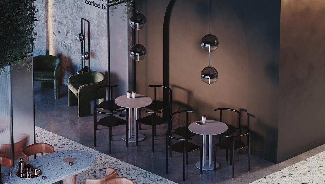 mẫu bàn ghế quán cafe - AIC JSC