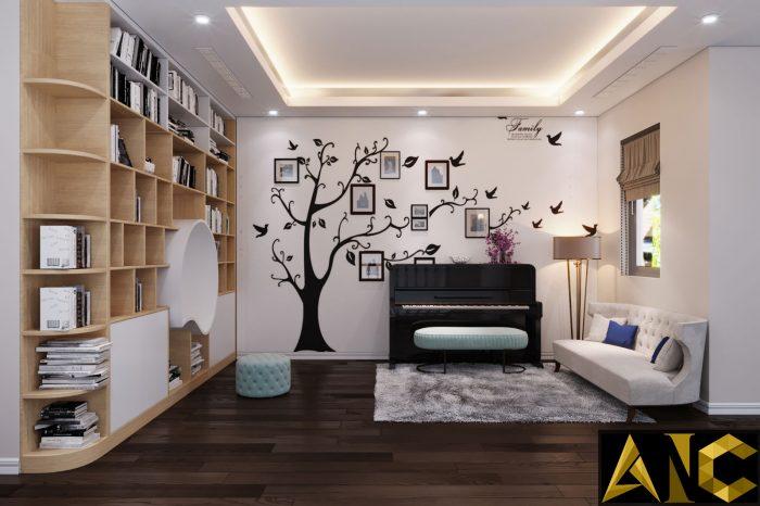 Thiết kế nội thất Nine South: Phòng Sinh Hoạt Chung View 2 - Nhà Anh Mạnh