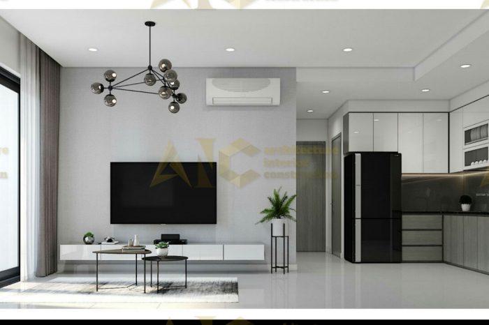 Thiết kế & thi công nội thất căn hộ chú Thắng- phòng khách