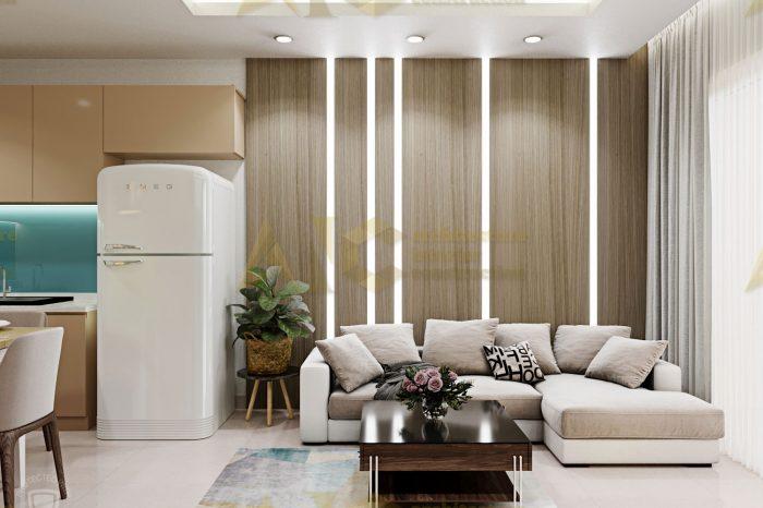 Thiết kế và thi công nội thất căn hộ chị Trúc- view 4